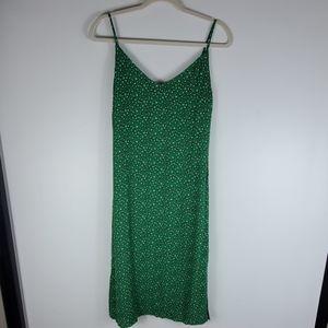 One Clothing Green Leopard Print Slip Dress S